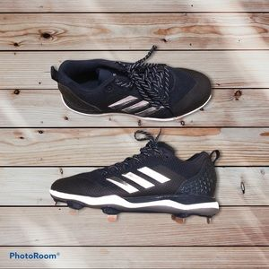 Adidas PowerAlley5 Navy Metal Cleats